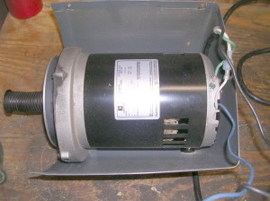 Since the late 80's, Shopsmith has used this Emerson 1-1/8 hp motor. lots of problems with it because of an internal centrifugal switch again, and an internal capacitor.